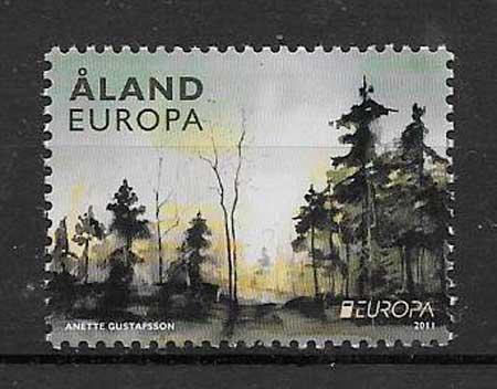 filatelia tema Europa Aland 2011