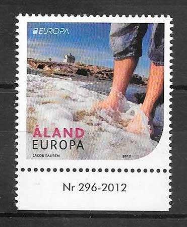 colección sellos tema Europa Aland 2012