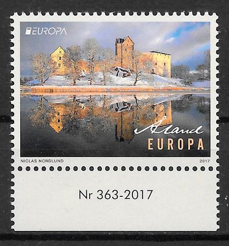 filatelia colección Europa Aland 2017