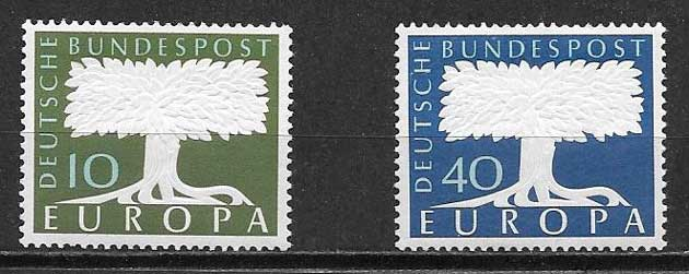 sellos filatelia 1957 Tema Europa Alemania