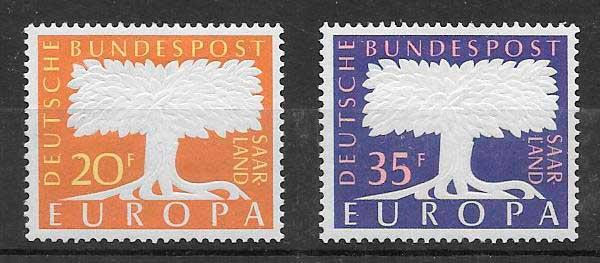 sellos Tema Europa Alemania 1957