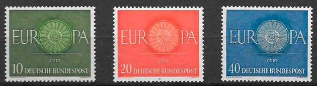 sellos tema Europa Alemania 1960