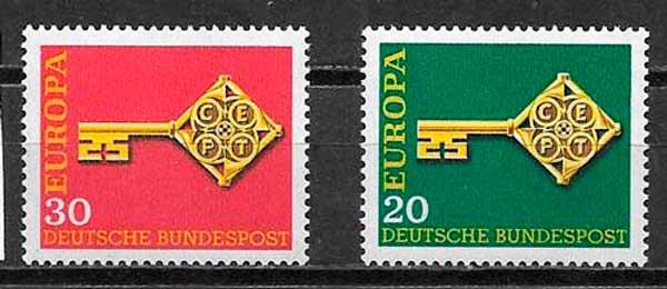 filatelia colección Temma Europa Alemania 1968