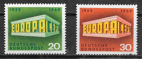 filatelia colección tema Europa Alemania 1969