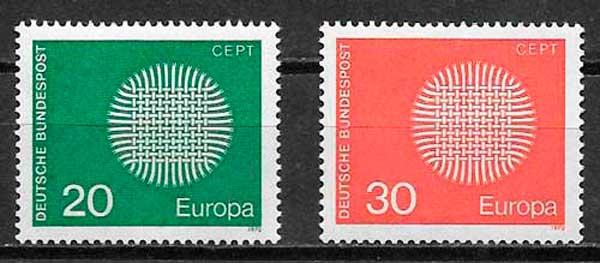 sellos Tema Europa Alemania 1970