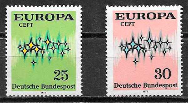 sellos Tema Europa Alemania 1972