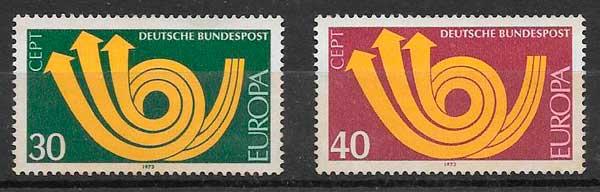sellos Tema Europa Alemania 1973