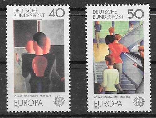 sellos Tema Europa Alemania 1975