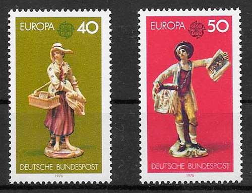 filatelia Tema Europa Alemania 1976