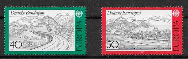 filatelia Alemania Tema Europa 1977