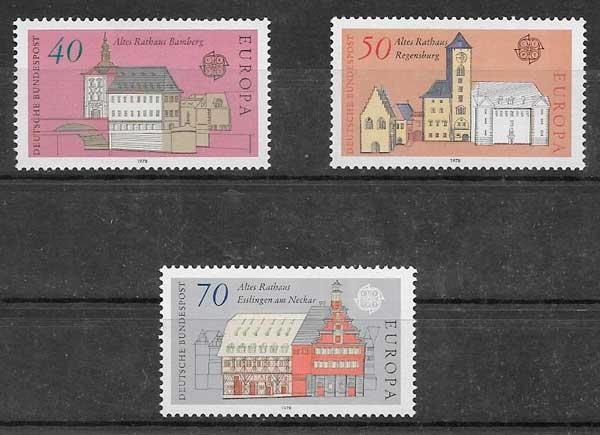 filatelia Tema Europa Alemania 1978