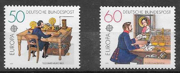 filatelia colección Tema Europa Alemania 1979