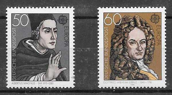 filatelia colección Tema Europa Alemania 1980