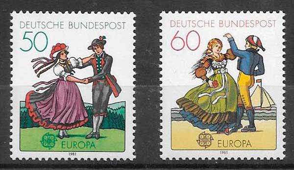 filatelia colección Tema Europa Alemania 1981