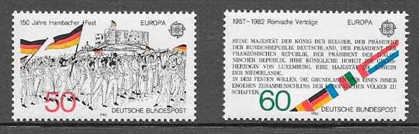 filatelia Tema Europa 1982