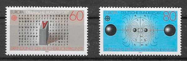 colección sellos tema Europa Alemania 1983