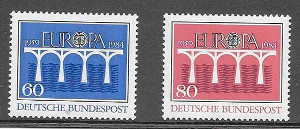 colección sellos Tema Europa Alemania 1984