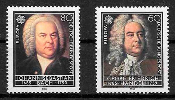 filatelia colección Tema Europa Alemania 1985