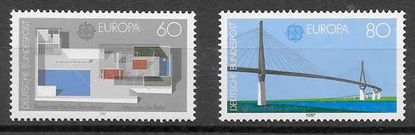 filatelia colección Tema Europa Alemania 1987