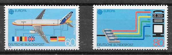 sellos Tema Europa Alemania 1988