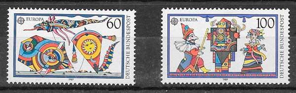 sellos Tema Europa Alemania 1989