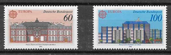 filatelia Tema Europa Alemania 1990