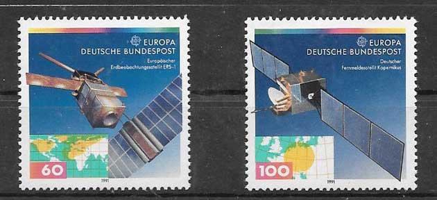 Sellos Tema Europa Alemania 1991