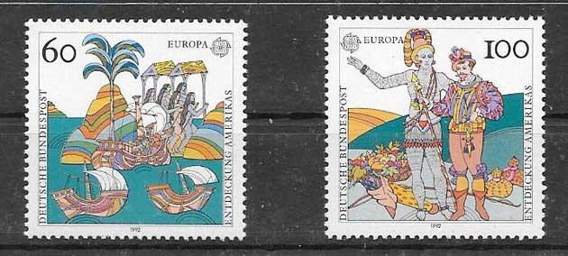 Sellos Tema Europa Alemania 1992
