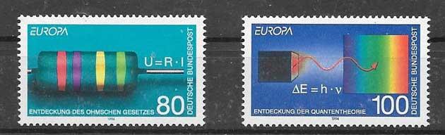 Filatelia Tema Europa 1994