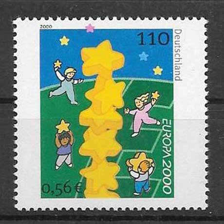 Filatelia sellos Alemania-2000-01