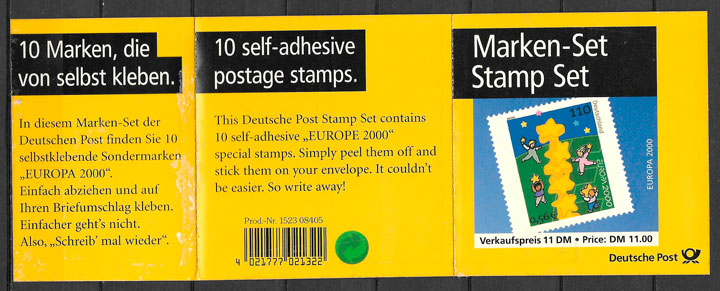 filatelia tema Europa Alemania 2000
