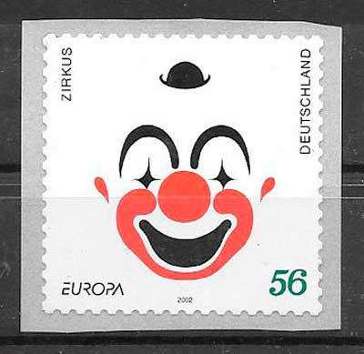 colección sellos Tema Europa Alemania 2002