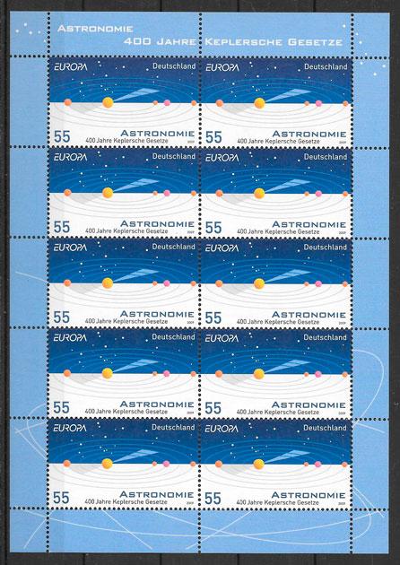 filatelia tema Europa Alemania 2009