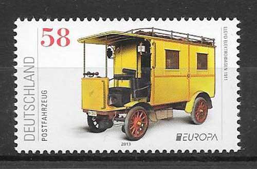 Sellos colección Tema Europa Alemania 2013