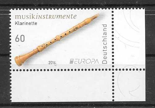 Sellos colección Tema Europa Alemania 2014
