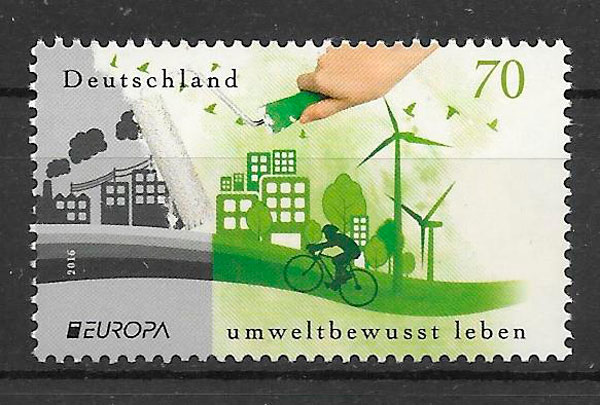 sellos tema Europa Alemania 2016