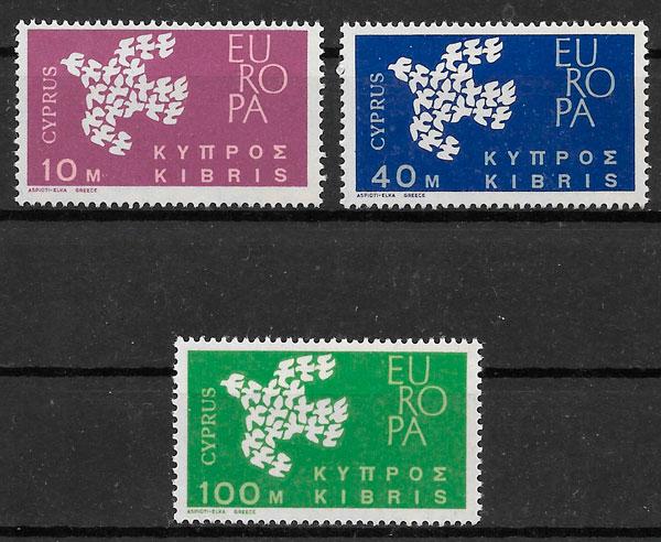 sellos Europa Chipre 1961