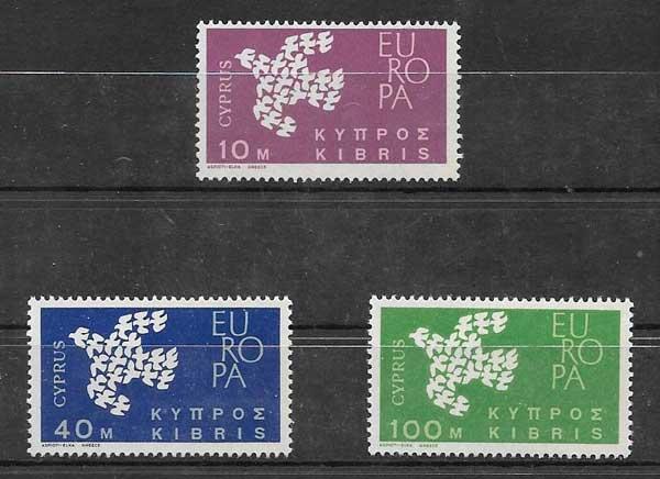 Sellos Chipre Tema Europa 1961
