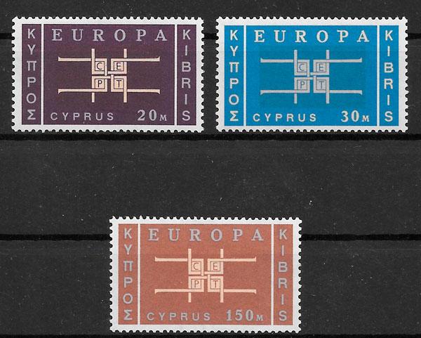sellos Europa Chipre 1963
