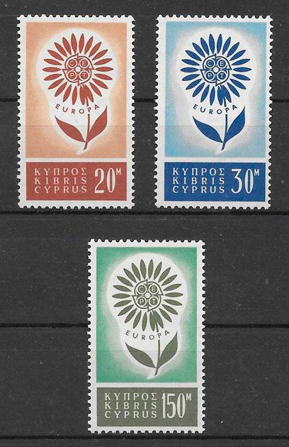 filatelia colección Europa Chipre 1964