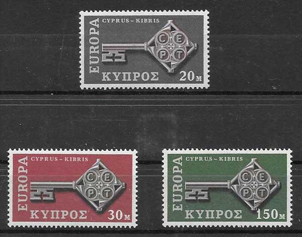 Estampillas Chipre 1968