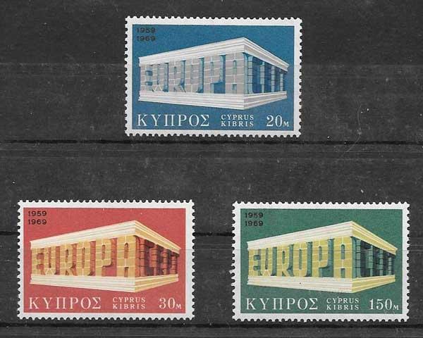 Estampillas colección Chipre 1969
