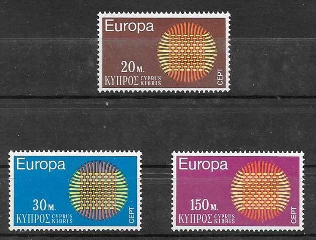 Sellos Chipre 1970