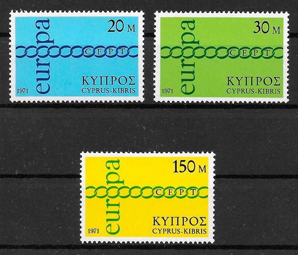 filatelia Europa Chipre 1971