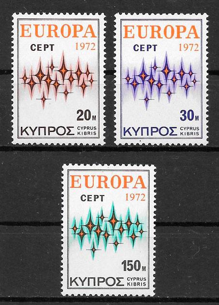 sellos Europa 1972 Chipre
