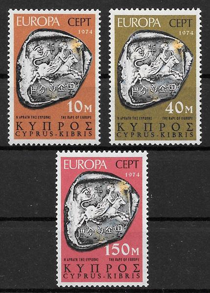 filatelia Europa 1974 Chipre
