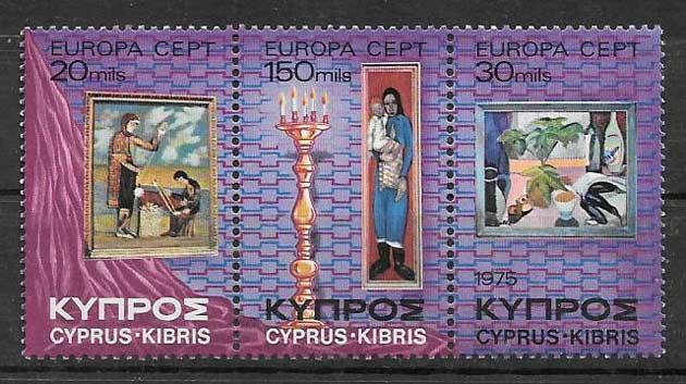 Filatelia Chipre 1975 Tema Europa