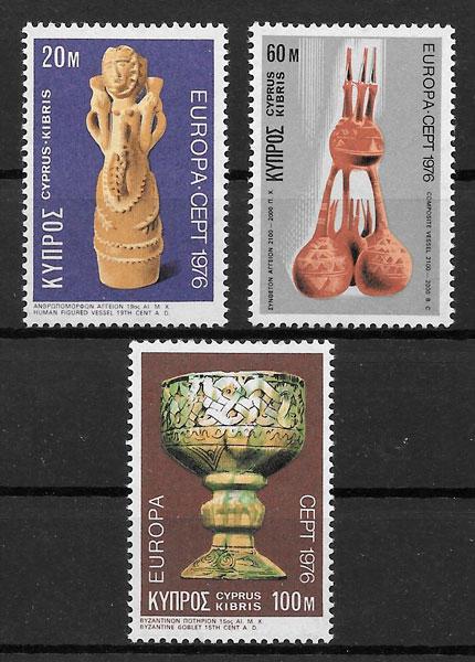 filatelia colección Europa Chipre 1976
