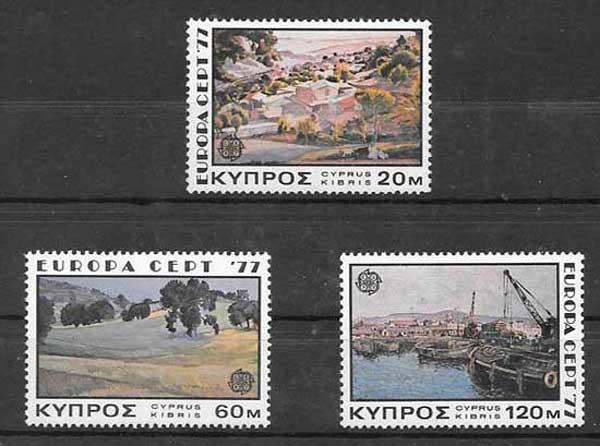 Sellos Chipre-1977-01