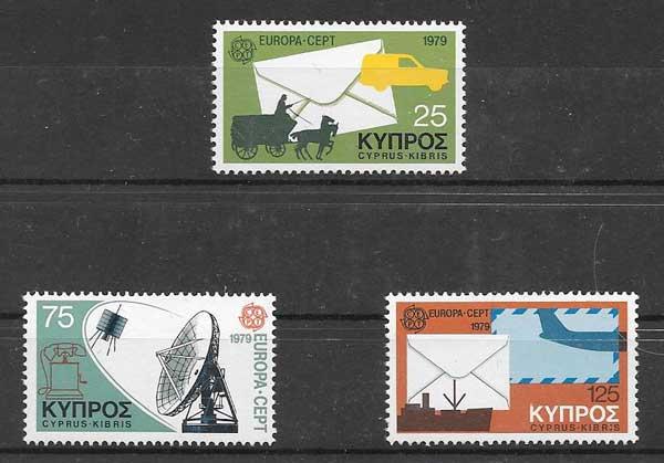 Colección sellos Chipre Tema Europa 1979
